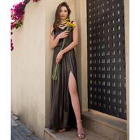 שמלת אנבל שחור/זהב מנצנץ