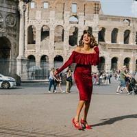 שמלת סלסה אדומה