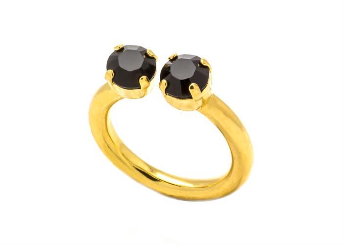 טבעת אן זהב שחור