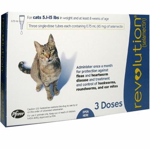 רבולושיין אמפולות הדברה לחתולים