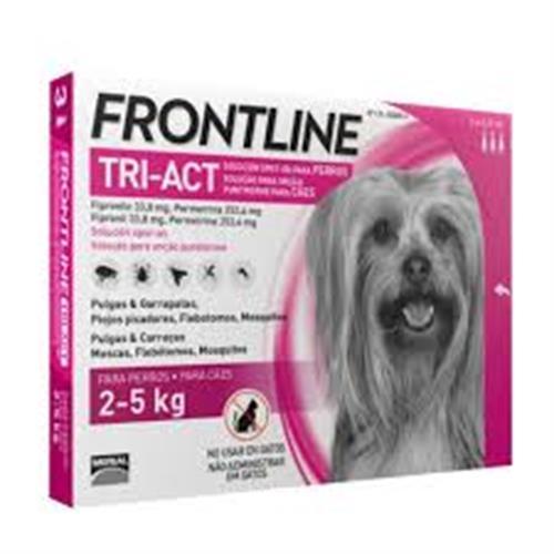 פרונטליין טרי-אקט עד 2-5 ק״ג 3 אמפולות לכלבים
