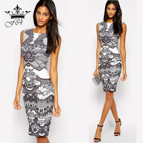 שמלה מידי אירופאית דגם קיילי לייקריס