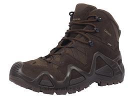 נעליים טקטיות הרים לואה חום אדמה כהה  LOWA Zephyr GTX Mid Dark Brown