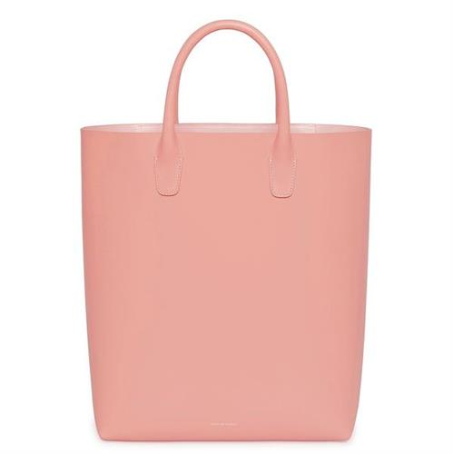 NORTH SOUTH TOTE CALF ROSA