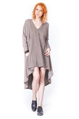 שמלת ג'ורדן חומה