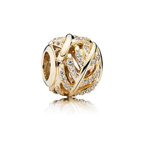 צ'ארם זהב מיקרו פאווה נוצה 750831CZ