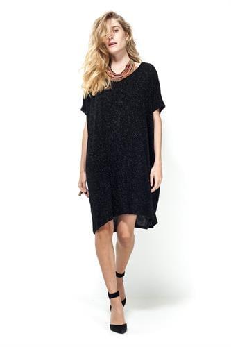 שמלת נינה שחור נצנץ