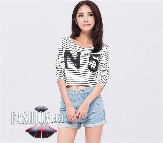 שורט ג'ינס מעוצב דגם ארין