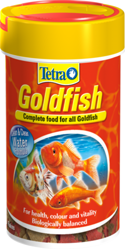 """מזון דפים לדגי זהב 100 מ""""ל (tetra)"""