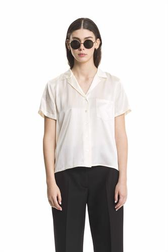 CREME COLLARED SHIRT