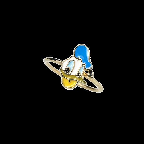 טבעת ילדות זהב צהוב 14K דונאלד דאק OP08140016431