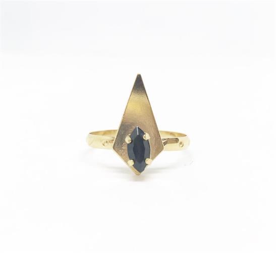 טבעת קאיה שחור זהב