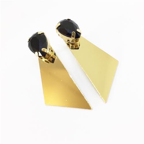 עגילי רוז זהב שחור