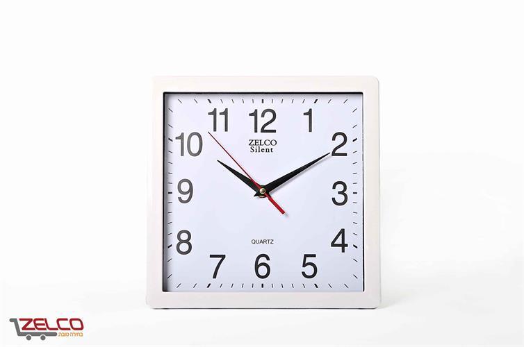 שעון קיר מרובע לבן
