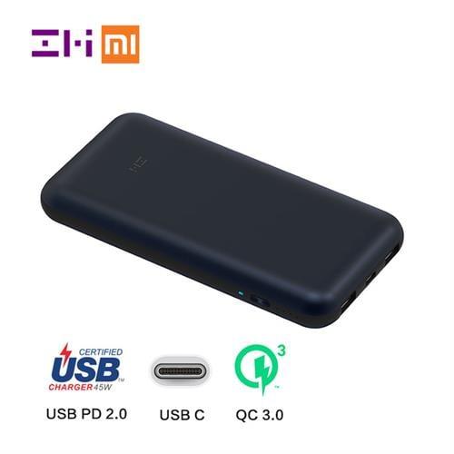 מטען נייד חזק עד 20 וולט Xiaomi ZMI 10 QB-820 20000mAh מקורי - ג'יפר
