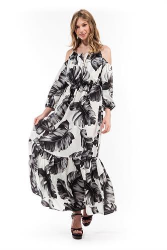 שמלת קלאודיה פרח לבן