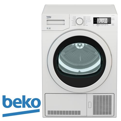 beko מייבש כביסה קונדנסור + אפשרות ניקוז דגם: DCY-9502 מתצוגה !