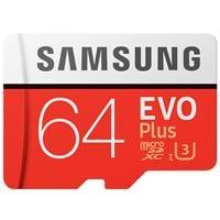 כרטיס זיכרון U3 MicroSDXC samsung EVO Plus Memory Card Adapter 64GB ומתנה