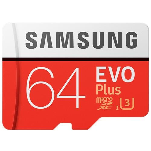 כרטיס זיכרון U3 MicroSDXC samsung EVO Plus Memory Card Adapter 64GB