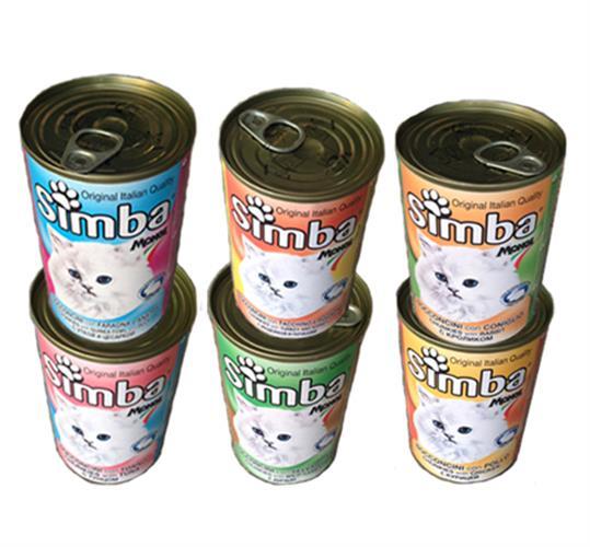 24 יח' שמורים לחתול סימבה 415 גרם (simba)