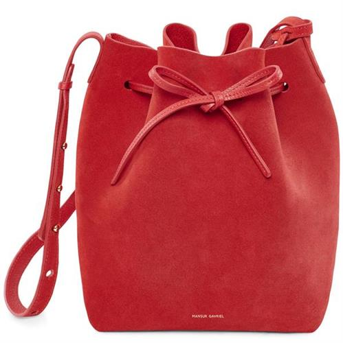SUEDE BUCKET BAG FLAMMA