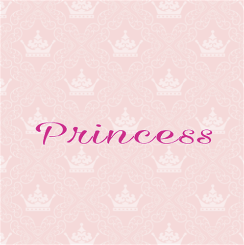 PRINCESS - cake sticker placemat - 5 peaces