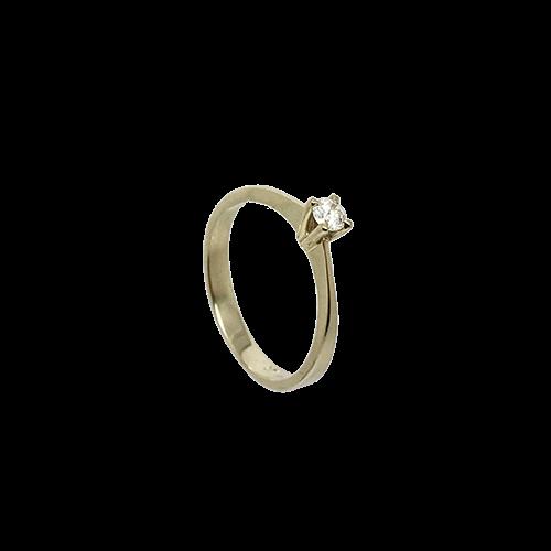 טבעת אירוסין זהב צהוב 14K יהלום מרכזי OP07150079108