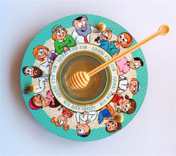 כלי לדבש ותפוחים משפחה מתוקה Dvash_14