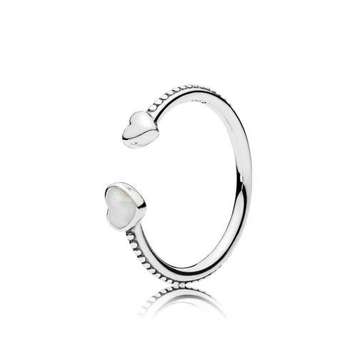 טבעת כסף לבבות אוהבים 191045EN23