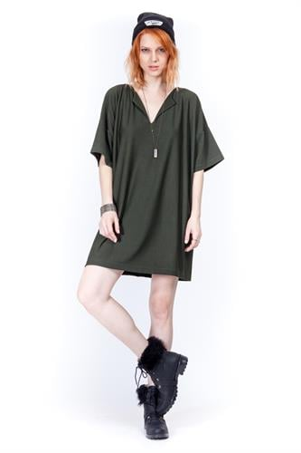 שמלת זואי ירוקה
