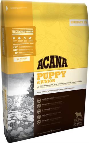 """אקאנה לכלב גור וג'וניור הרטינג 11.4 ק""""ג"""