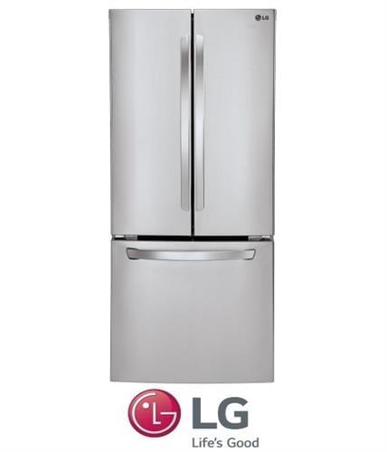 LG מקרר 3 דלתות 678 ליטר דגם GRB240RSA נירוסטה / לבן