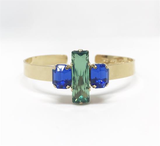 צמיד שרי ירוק כחול זהב