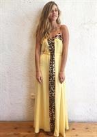 שמלת אדריאנה צהוב מנומר