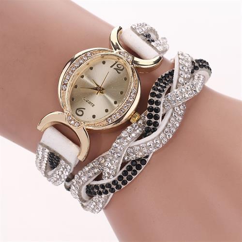 שעון מעוצב אבנים רצועות