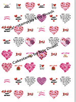 Birthday Hearts Transfer sheet