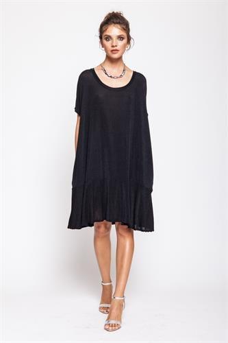 שמלת עלמה לורקס שחור נצנץ