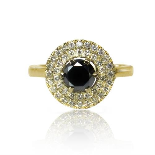 טבעת יהלומים 'רויאל פרינסס' 1.40 קראט בזהב 14 קאראט