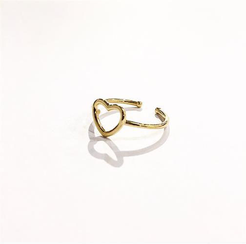 טבעת לב קטנה זהב