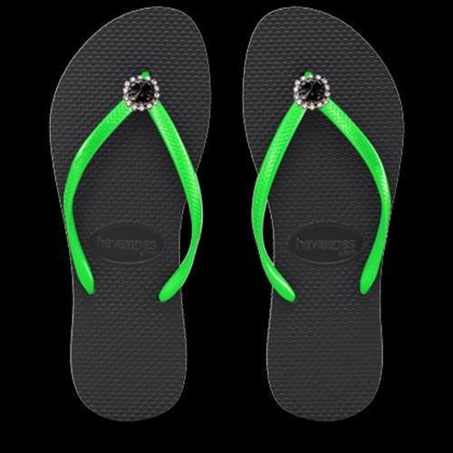 כפכפי ריבולי שחור/ירוק BLACK/GREEN