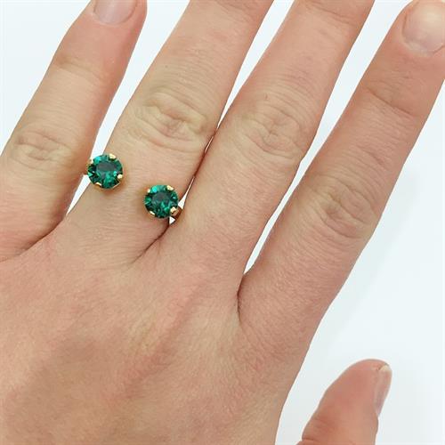 טבעת אן זהב ירוק