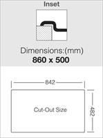 כיור מטבח נירוסטה יחיד עם משטח HY860