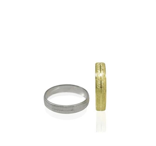טבעת נישואין לגבר בזהב 14 קרט- דגם WR816