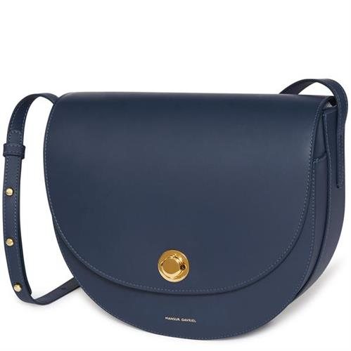 CALF SADDLE BAG BLUE