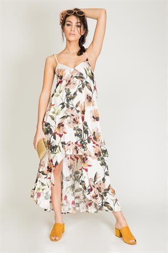 שמלת מנדרין פרחוני