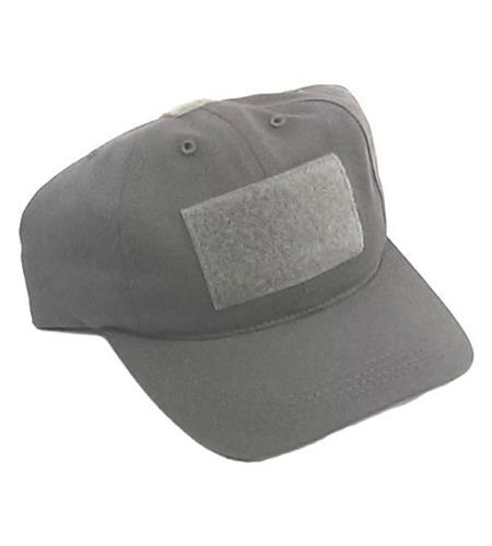 כובע לוחם מגב טקטי עם פאטצ' צבע אפור