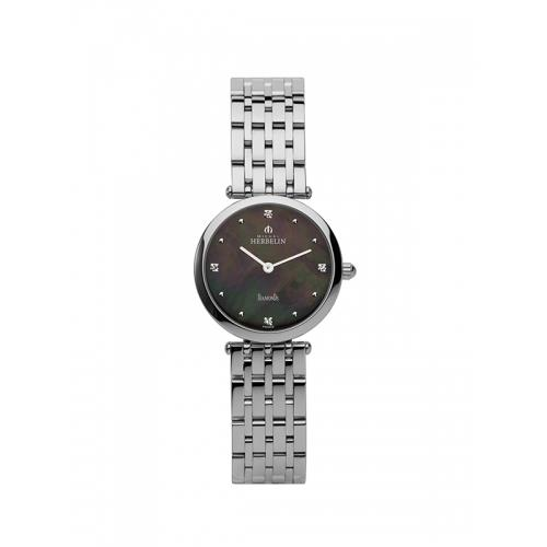 שעון יד אנלוגי נשים יהלומים Michel Herbelin 1045/B99