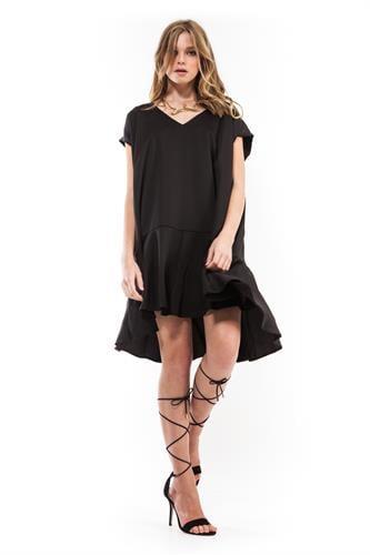 שמלת סיה שחור מבריק