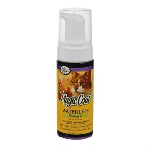"""שמפו יבש בקצף לחתולים וגורי חתולים 177 מ""""ל (four pews)"""