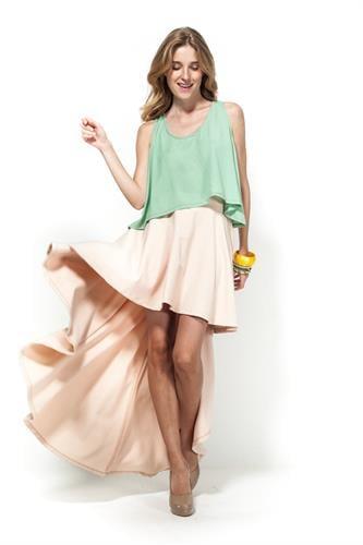 חצאית בל אפרסק
